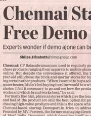 Chennai Startup Offers Free Demo for Products